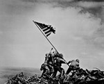 Photo of flag raising om Iwo Jima, WW II